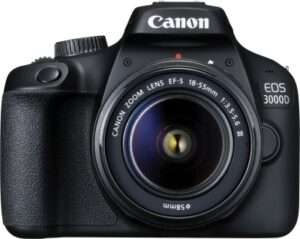 Canon EOS 3000D DSLR Camera Single Kit with 18-55 lens
