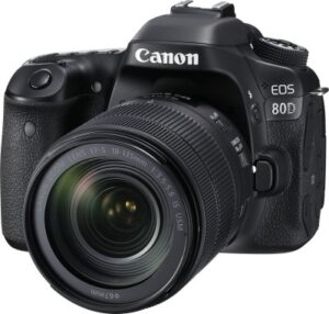 Canon EOS 80D DSLR Camera Body with Single Lens EF-S 18-135