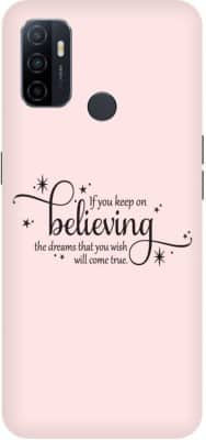 Bluvver Back Cover for OPPO A53 ,CPH2127 Printed Believe Back Cover